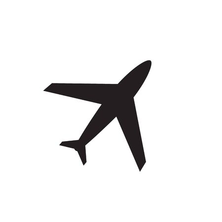 Plane vector icon, airport and airplane pictogram symbol