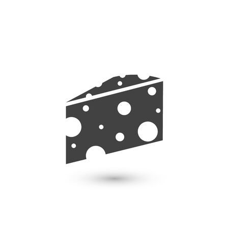 Cheese Icon. Farm Product Element Illustration As A Simple Vector Sign Trendy Symbol for Design, Websites, Presentation or Application