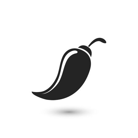 Chili icon. Pepper icon. Vector illustration