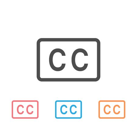 Closed captioning icon set vector image