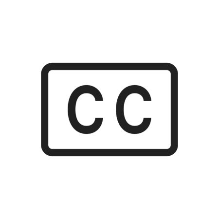 Closed captioning icon vector image