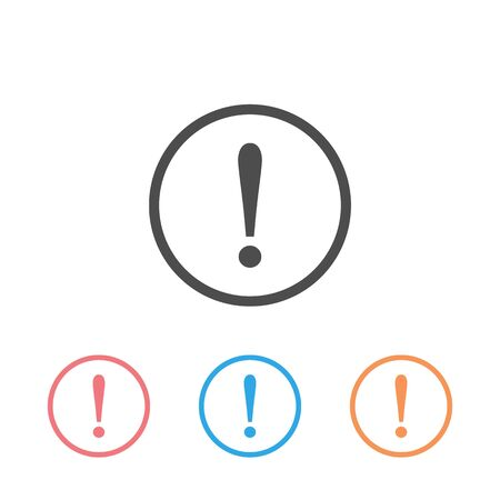 Exclamation Mark, danger warning sign, emergency alert, caution sign, vector icon set illustration Ilustrace