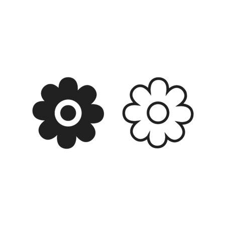 Flowers icon vector lines and filled Illusztráció