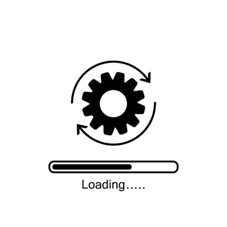 Update system icon. Concept of upgrade application progress icon for graphic and web design. Upgrade Update system icon