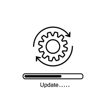 Loading process. Update system icon. Concept of upgrade application progress icon for graphic and web design. Upgrade Update system icon