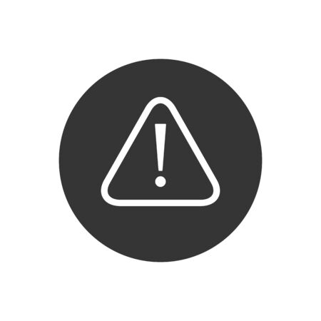 Exclamation mark icon in flat style. Danger alarm vector illustration on white isolated background. Caution risk business concept