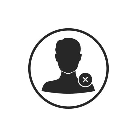 Fired, people icon. Dismissal of an employee icon. Vector