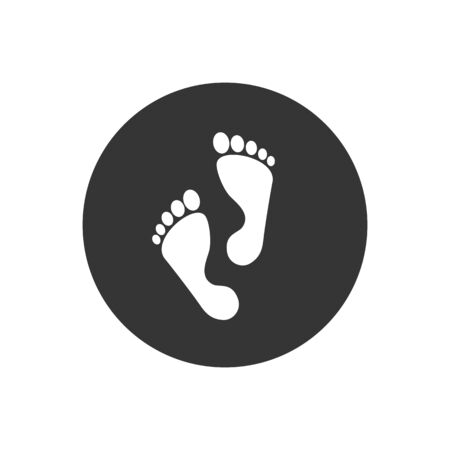 Foot step icon. Vector illustration