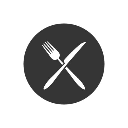 Fork and knife icon vector. Eat symbol. Vector Illustration