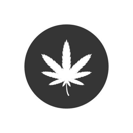Marijuana icon on white. Vector illustration