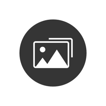 Photo vector icon illustration. Flat style