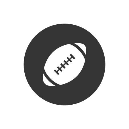 American football icon. Vector illustration