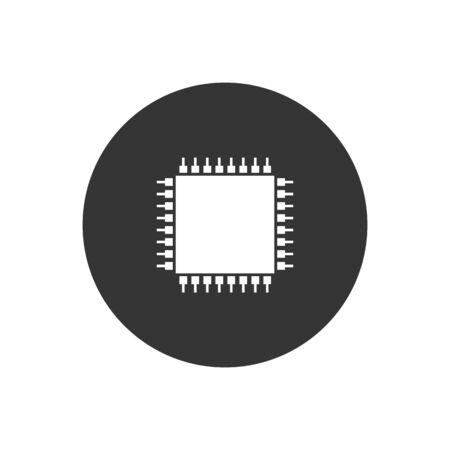 Computer Chip icon vector illustration Vecteurs