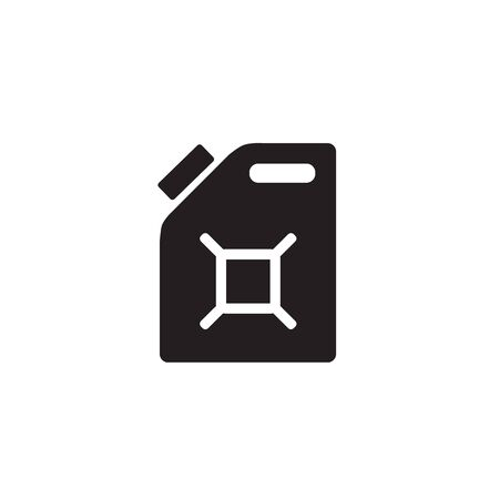 Gasoline canister vector icon. filled flat sign for mobile concept and web design. Jerrycan glyph icon. Symbol, logo illustration. Pixel perfect vector graphics