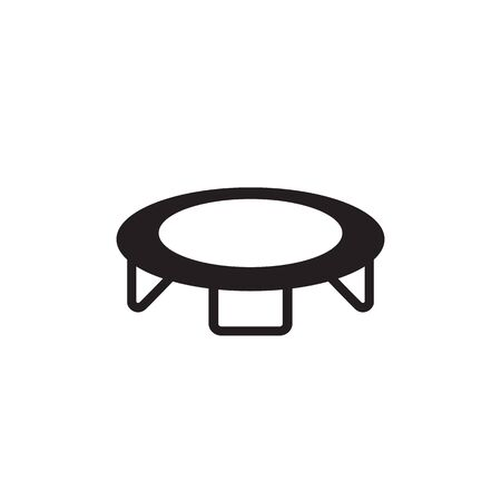 Jumping trampoline icon isolated on white background. Vector