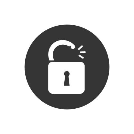 Lock Icon in trendy flat style isolated. Security symbol for your web site design, logo, app, UI, presentation. Vector illustration Illusztráció