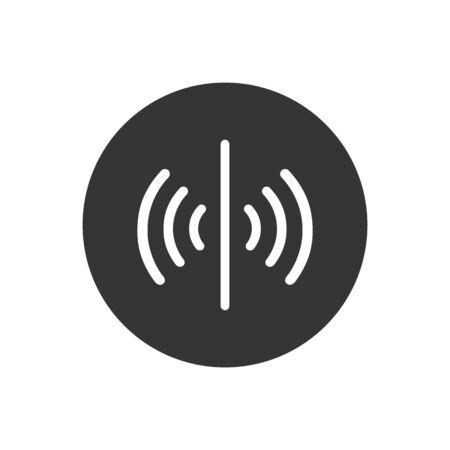 Sensor vector icon, signal symbol. Simple, flat design for web or mobile app