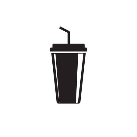 Soft drink flat icon. vector illustration
