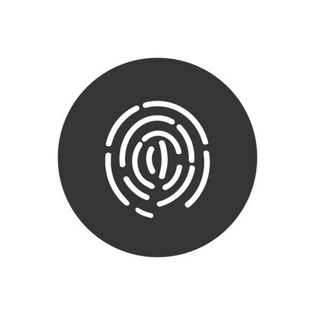 Touch id button, web. ID app icon. Vector illustration
