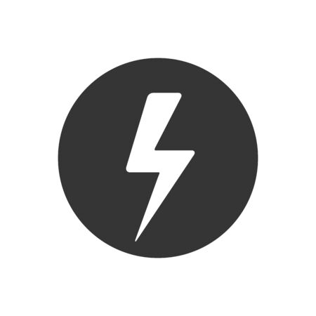 Lightning Icon vector. Lightning, electric power vector. Energy and thunder electricity symbol concept. Flash  イラスト・ベクター素材