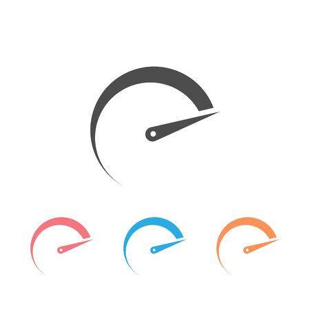 Speedometers icon set, isolated. Flat design Vector  イラスト・ベクター素材