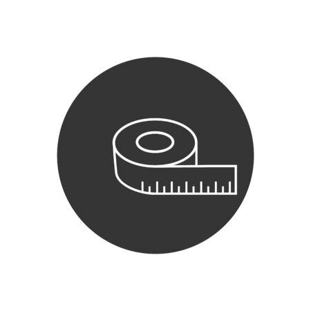 Tape measurement icon symbol logo template. Vector
