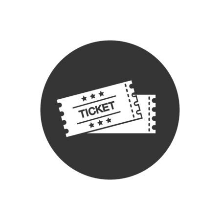 Ticket vector icon. Black illustration isolated for graphic and web design