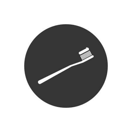 Toothbrush icon on white, vector illustration