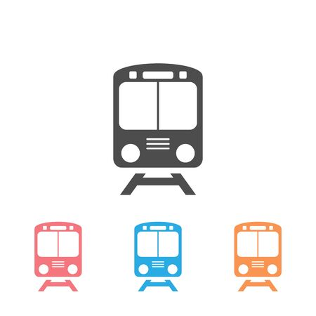 Train icon set symbol vector on white background