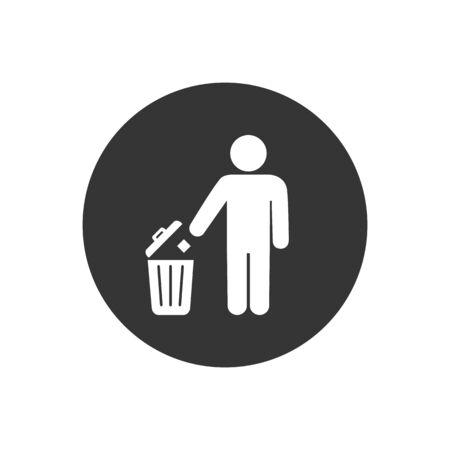 Trash icon isolated on a white background. Vector illustration