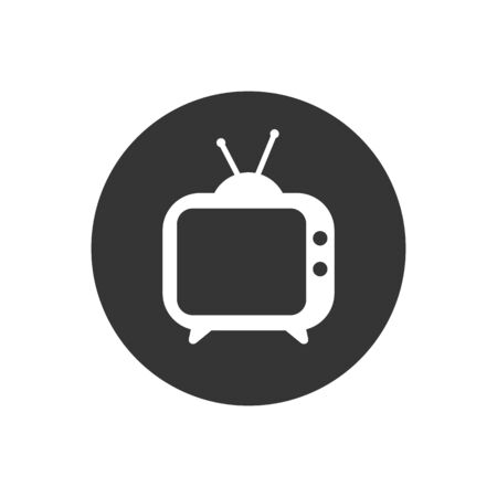 TV icon. Tv Icon in trendy flat style isolated on gray background. Television symbol for your web site design, logo, app, UI. Vector illustration