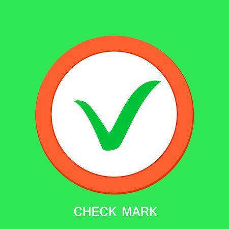 Check mark icon. Tick symbol, tick icon. Vector illustration  イラスト・ベクター素材