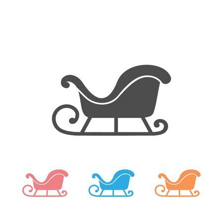 Vector Illustration of a Christmas Sleigh Icon Set  イラスト・ベクター素材