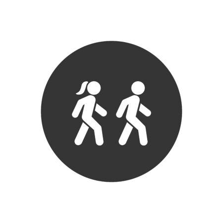 Walk icon symbol logo template. Vector illustration