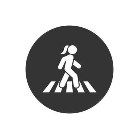 Walk icon symbol logo vector template