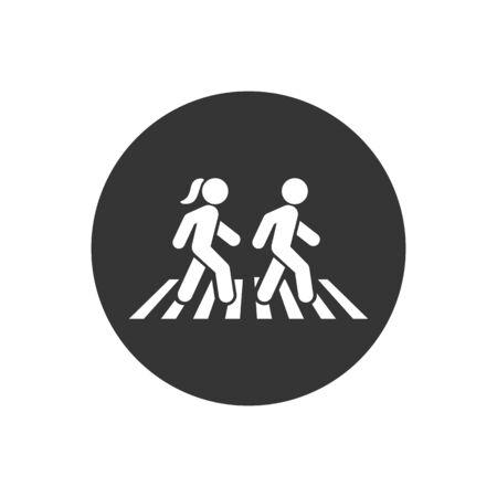 Walk icon symbol logo template. Vector  イラスト・ベクター素材