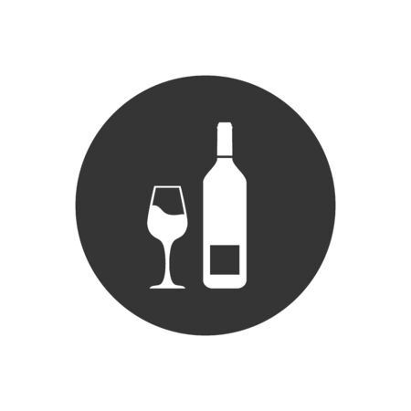 Wine icon Vector Illustration on the gray background