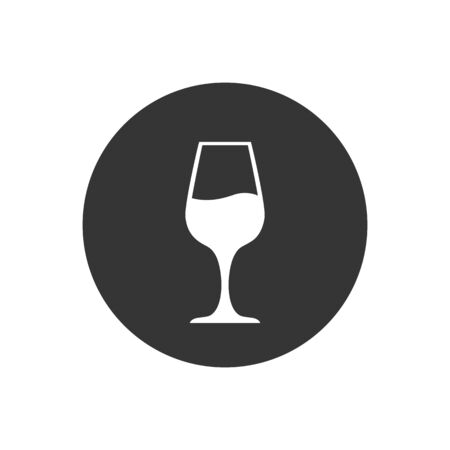 Wine icon symbol on gray background. Vector
