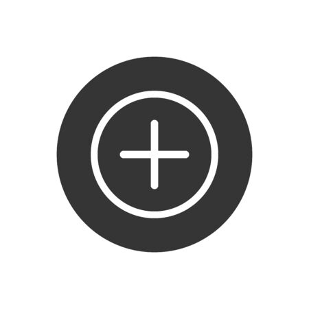 Add icon. Plus sign. Plus icon simple add sign vector cross illustration