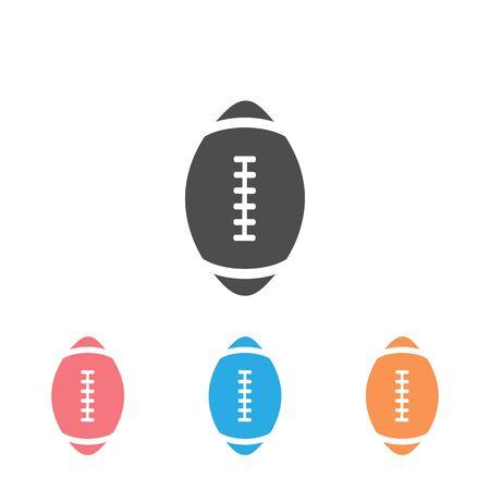 American football icon set. Vector illustration