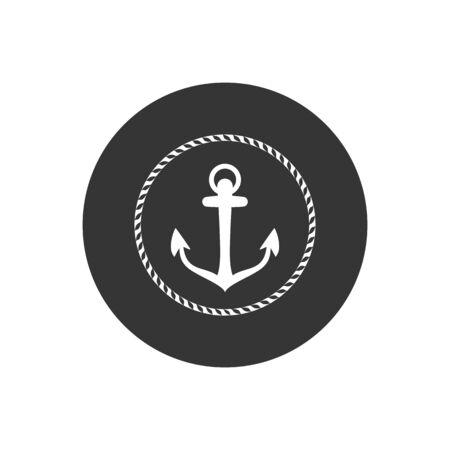 Anchor vector icon logo Nautical maritime sea ocean boat illustration