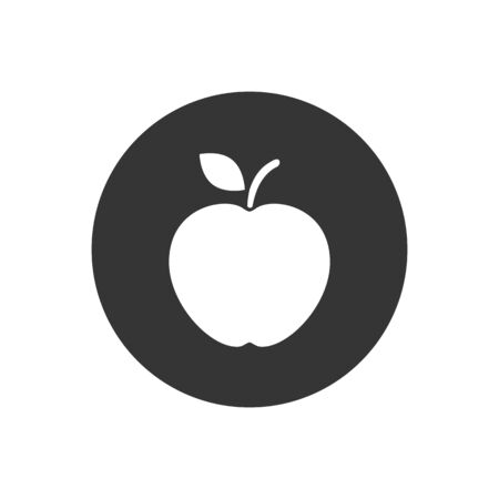 Apple vector icon. Apple fruit