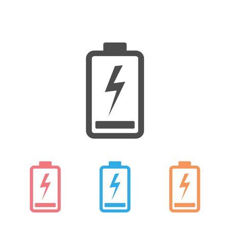 Full battery icon set vector illustration  イラスト・ベクター素材