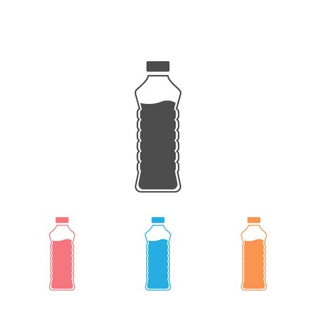 Bottle icon set in trendy flat design. Vector  イラスト・ベクター素材