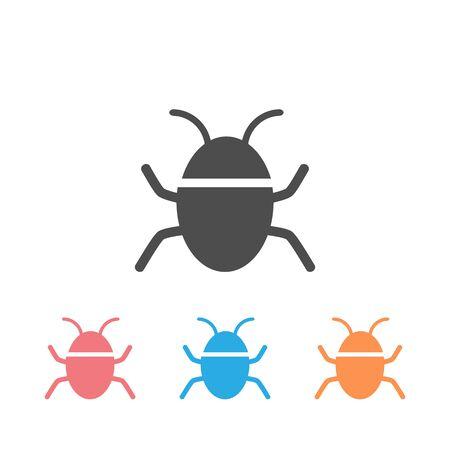 Bug vector icon set on white. Vector  イラスト・ベクター素材
