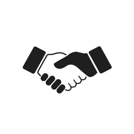 Business handshake icon. Vector illustration
