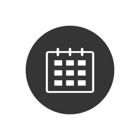 Calendar Icon. Calendar Isolated Flat Web Mobile Icon, Sign, Symbol, Button, Element Vector illustration