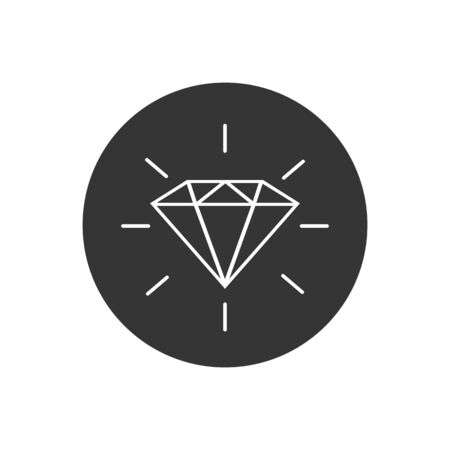 Diamond line icon. Gemstone symbol Vector  イラスト・ベクター素材