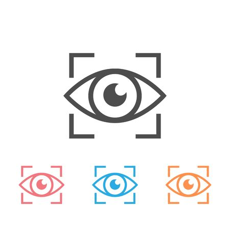 Eye icon set sign. Vector illustration  イラスト・ベクター素材