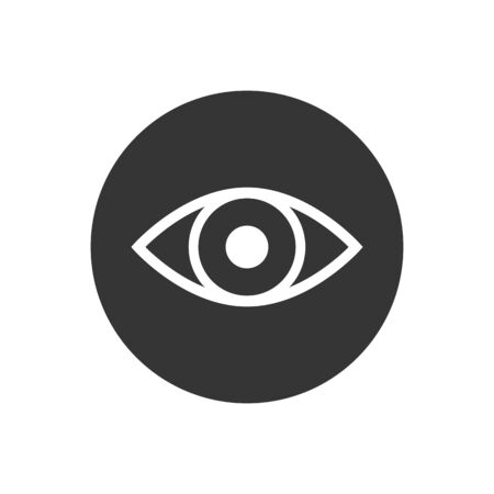 Eye icon vector. Eye symbol. Linear style sign for mobile concept and web design. Eye symbol illustration. Pixel vector graphics - Vector  イラスト・ベクター素材